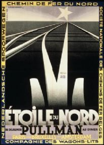 Pullman Etoile du Nord Railway French Travel Poster